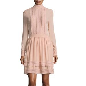 NICHOLAS fine-pleat silk long-sleeve dress - 12